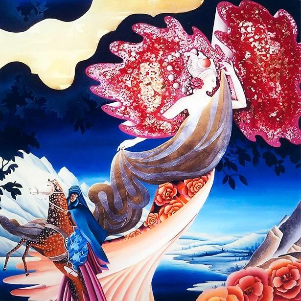 La princess et le chevalier (Metaphysische Kunst)