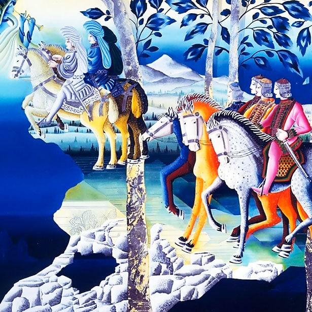 Les chevaliers d'Artus (Metaphysische Kunst)