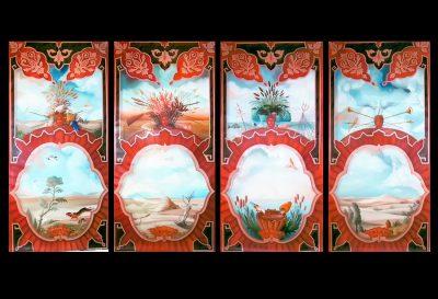 Vier Jahreszeiten auf Panneaux