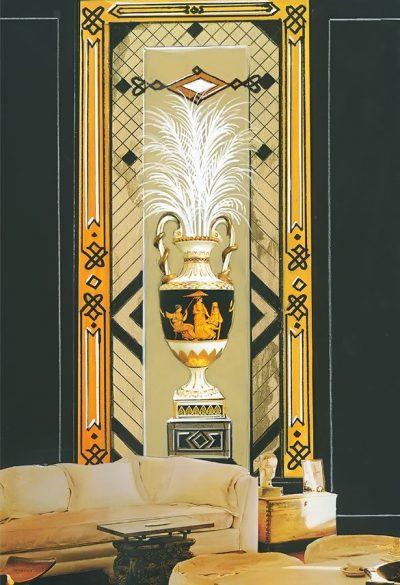 Panneaux Empire Vase mit Einrichtung