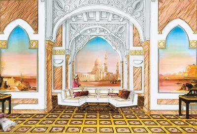 3 Panneauxs in Oriental Hotel Hall