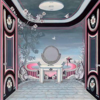 Wandmalerei Powder Room Harra (Beverly Hills)