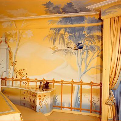 Wandmalerei Schlafzimmer Ritter Palais
