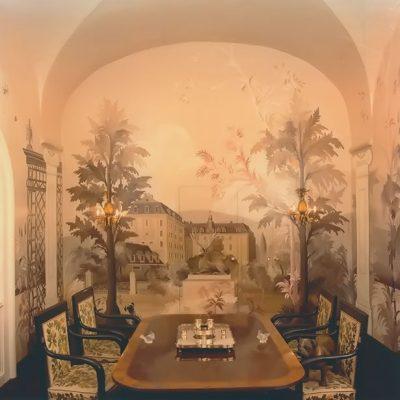 Wandmalerei Schloß Langenstein Speisezimmer