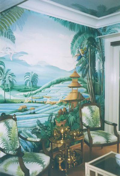 Wandmalerei Thailand landscape