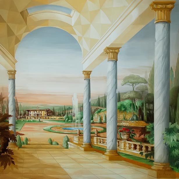 Garden Hall with Toscana Villa