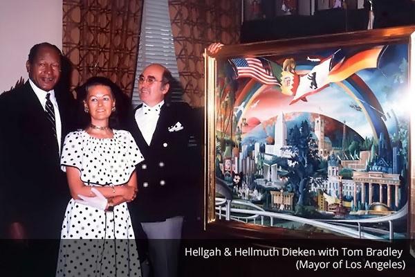 Hellgah & Hellmuth Dieken mit Tom Bradley (Los Angeles)