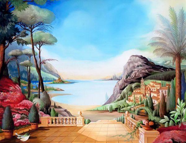 Mediteranien village with sea-view, mountains and terrasse-garden